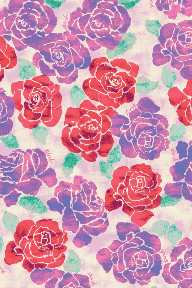 Free Pink Wallpaper From Victorias Secret Prints And Patterns