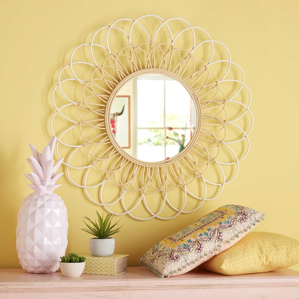 Pastel pink pineapple figurine H 57 cm   Rattan, Bedrooms and House