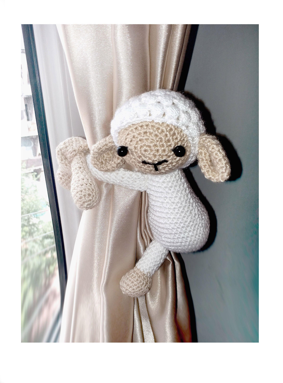Lamb Curtain Tie Back 1 Pcs Sheep Curtain Tie Backs Crochet Animal