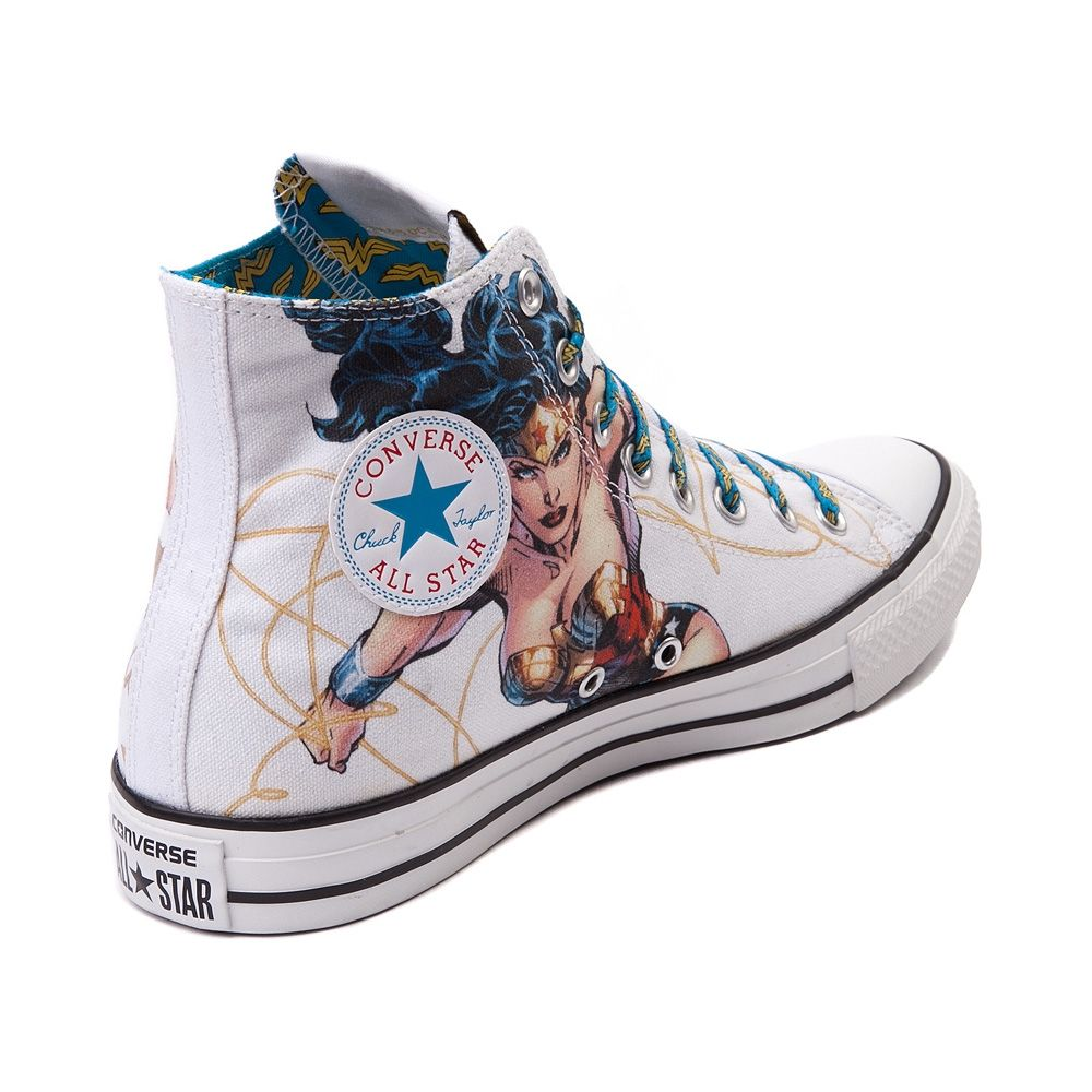 7465e9ed2f48 For older girls (and moms!) check out these Wonder Woman high tops ...