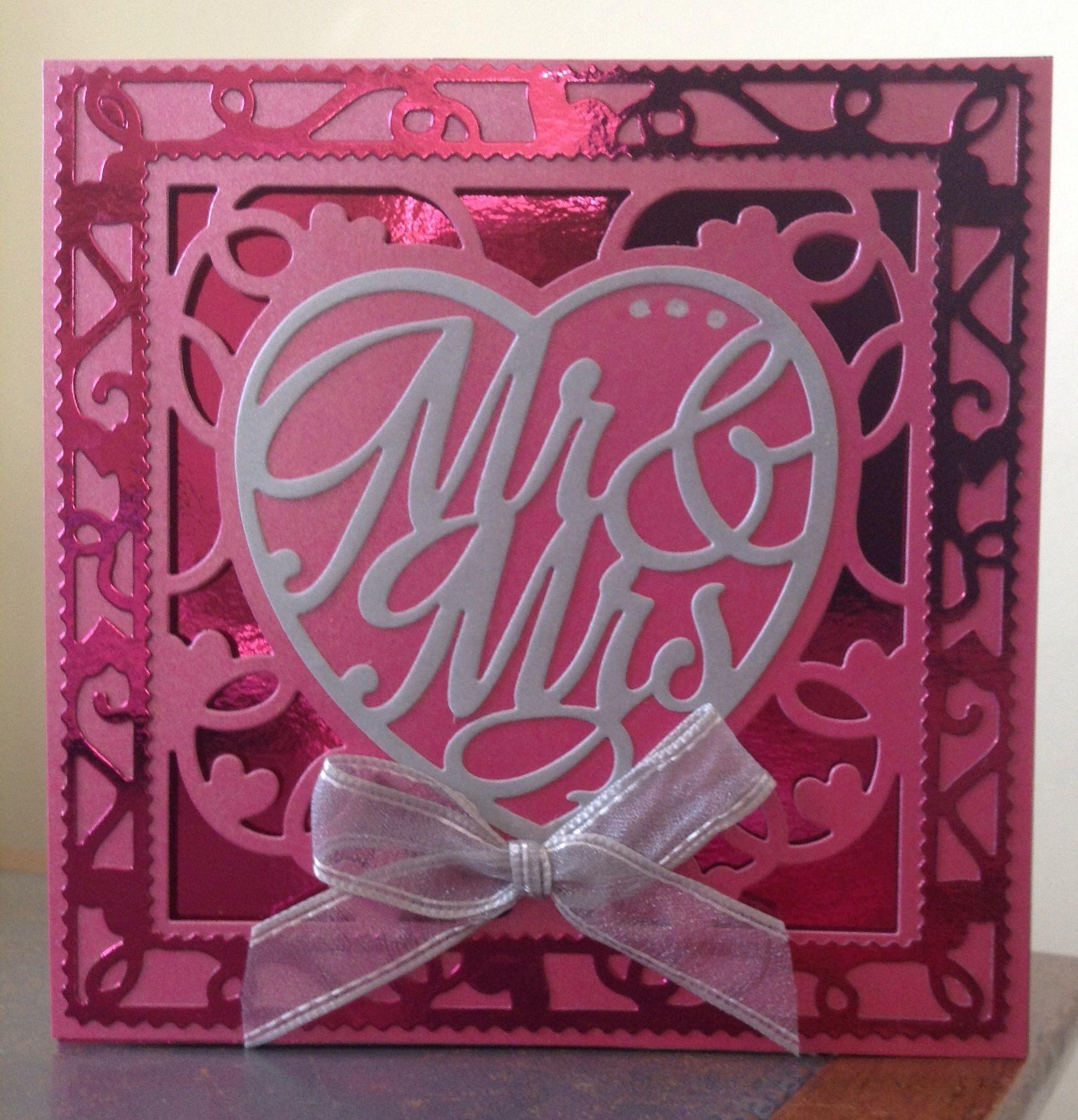 claire pearsonwedding card using tonic dies  wedding
