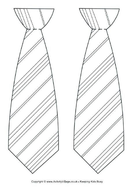 Best Photos Of Free Printable Tie Coloring Page Necktie ...