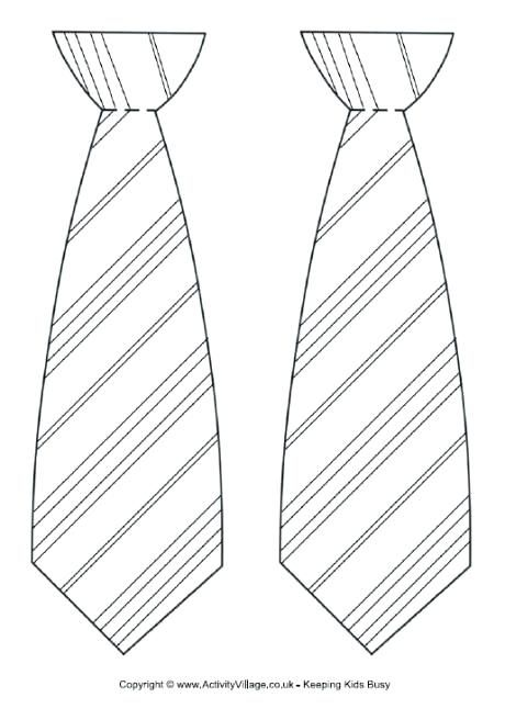 Best Photos Of Free Printable Tie Coloring Page Necktie Template