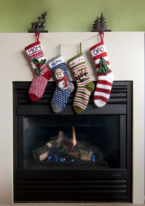 Modern Christmas Stocking Crochet Patterns - Instant Download ...