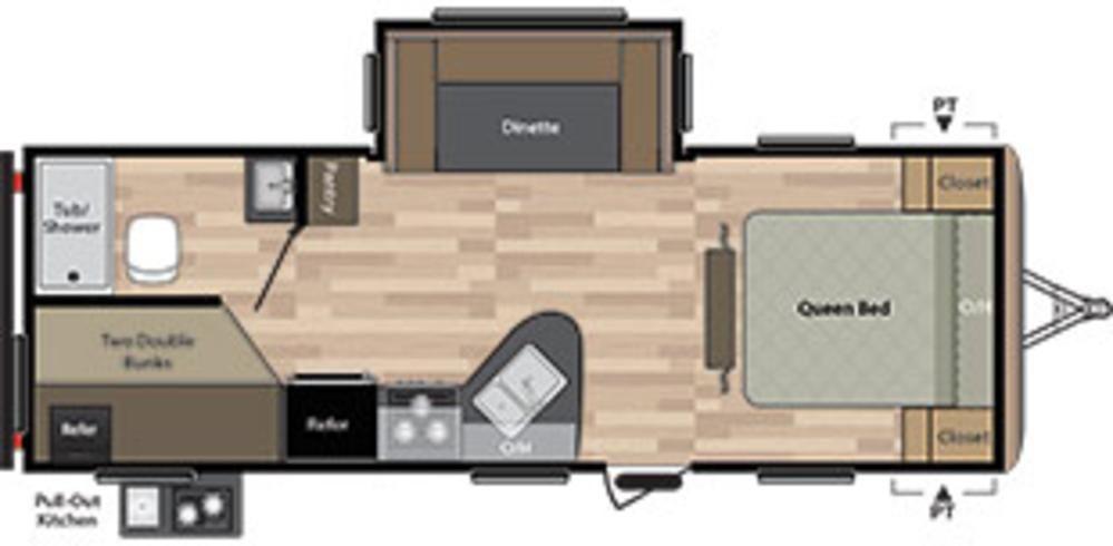 Keystone Springdale 24bhwe Floor Plans Springdale Travel Trailer