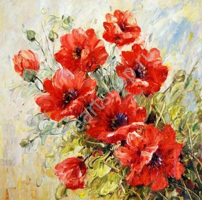Дарите женщинам цветы, картина раскраска по номерам своими ...