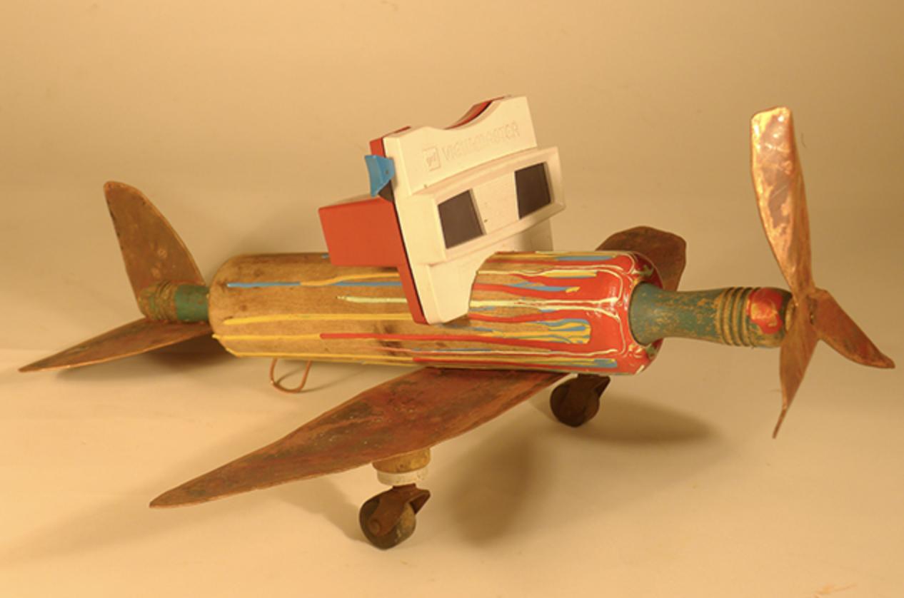 Painted Plane  | by Doug Britt #DougBritt #Sculpture #CedarStreetGalleries