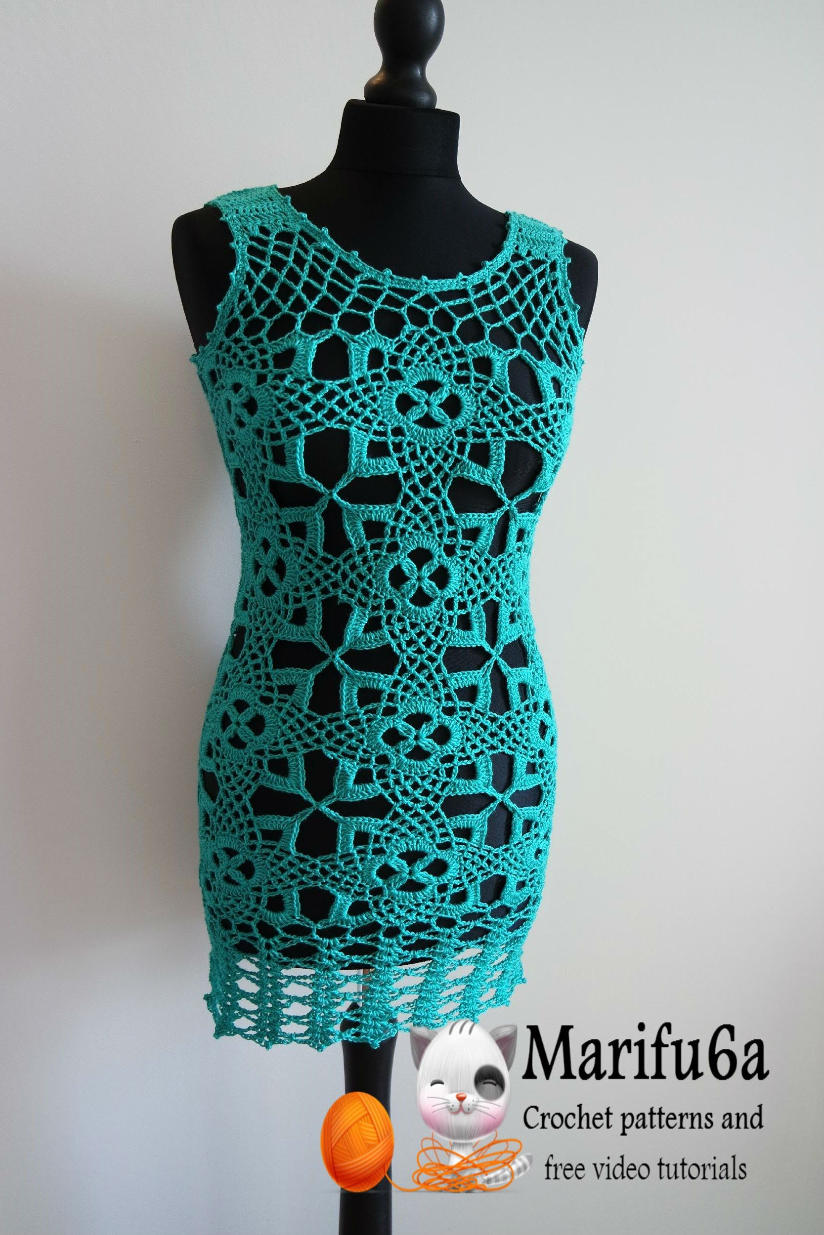 How to crochet tunic dress pattern free tutorial all sizes by ...