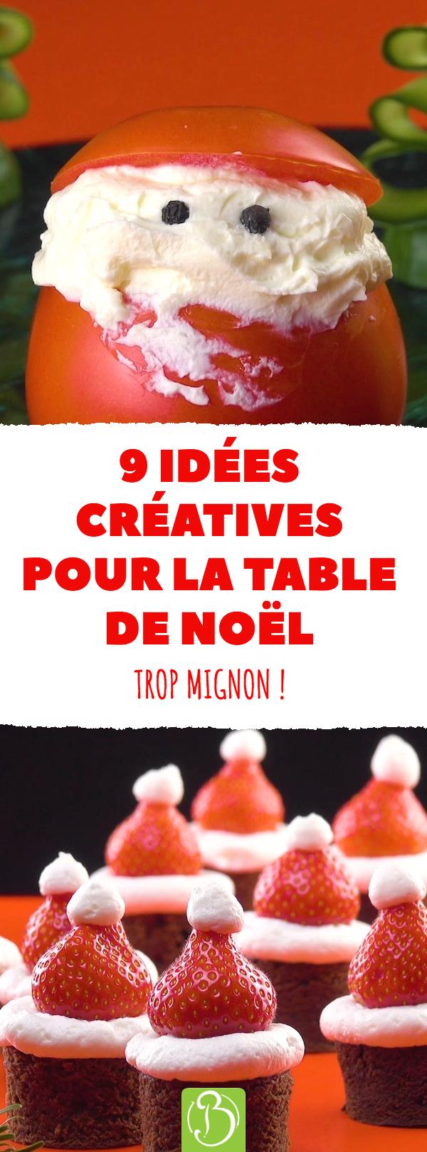 12 idées créatives pour la table de Noël. Trop mignon  repas ...