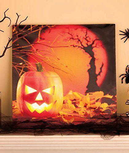 Lighted Jack-o-lanterns Pumpkins Wall Hanging Light up Halloween - halloween lighted decorations