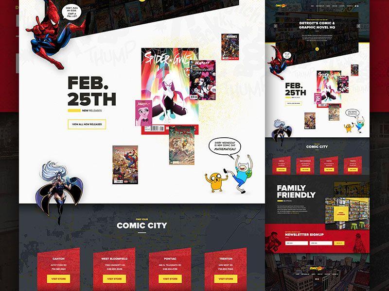 Comic Book Website Bar Website Design Web Design Inspiration Comic Books