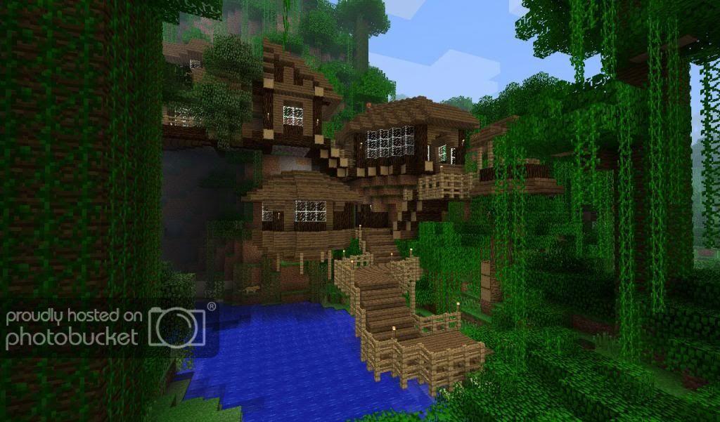 Cliff House In A Jungle Biome Creative Mode Minecraft Java