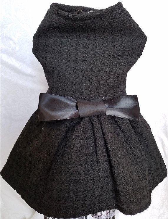 LBDD-Lil Black Dog Dress ~Fancy Dog ~Puppy Dress ~Pet Apparel ~Dog ...