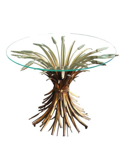 Vintage Italian Wheat Sheaf Side Table Side Table Wheat Sheaf Artistic Furniture