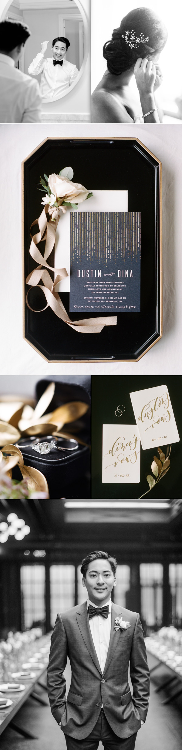 A Modern Wedding with a French Fry Bar = Total Goals – Style Me Pretty