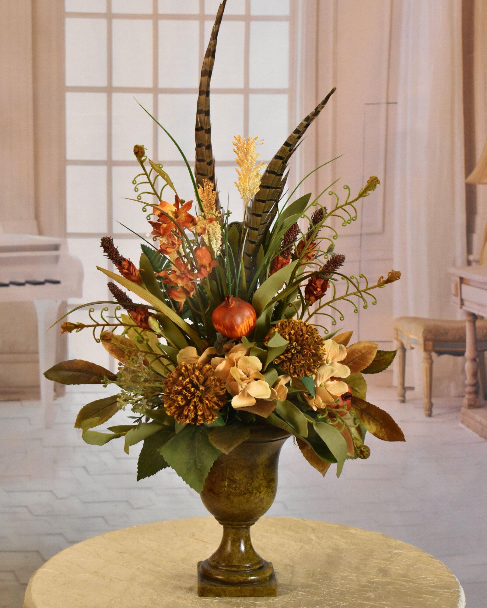 génial  Mot-Clé Floral Home Decor Magnolia And Hydrangea Floral Arrangement in ...