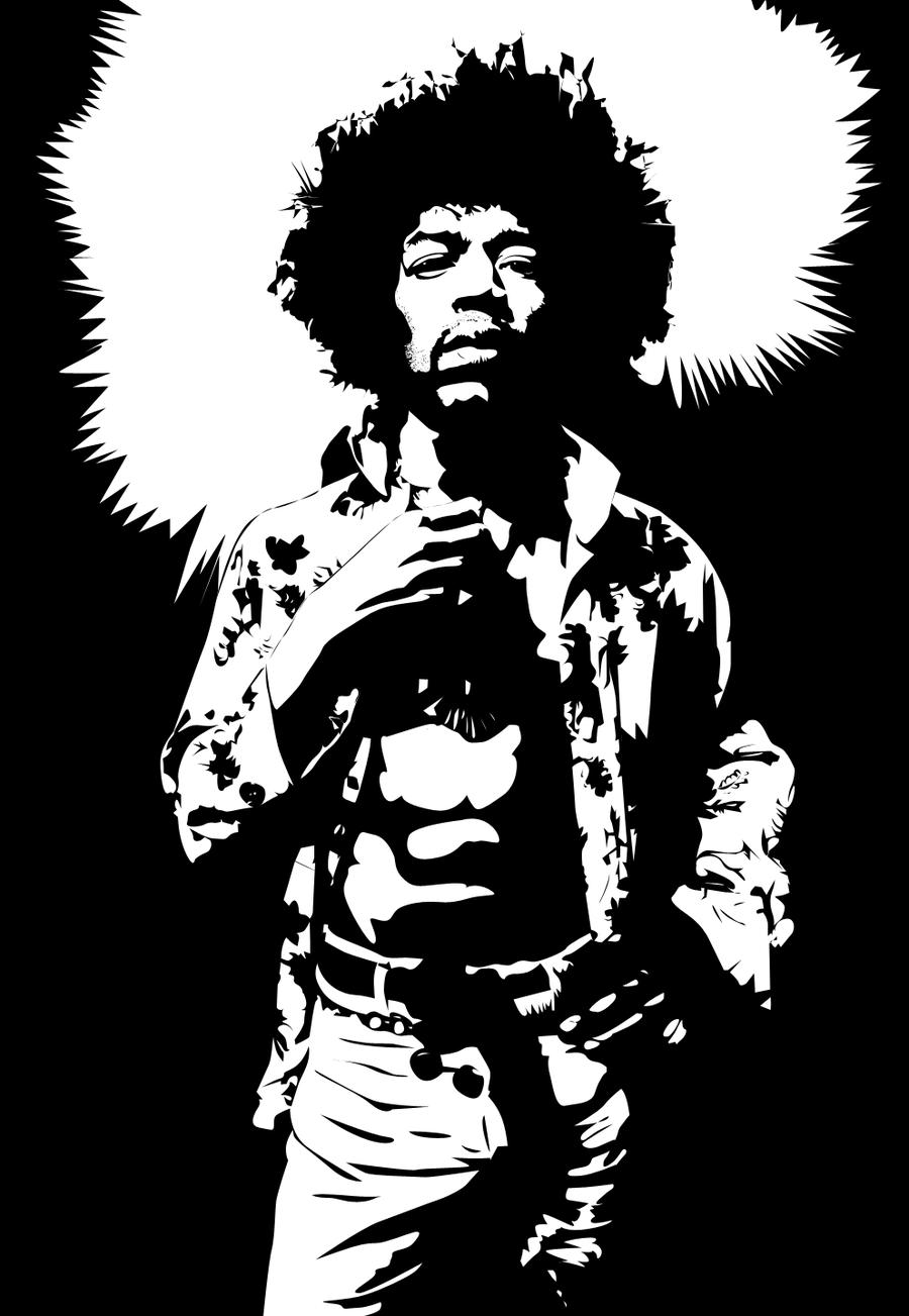 Jimi Hendrix Vector By Kevin2407 Jimi Hendrix Art Silhouette Art Bob Marley Painting
