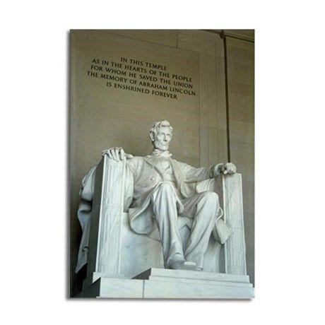 Lincoln Memorial Rectangle Magnet on CafePress.com