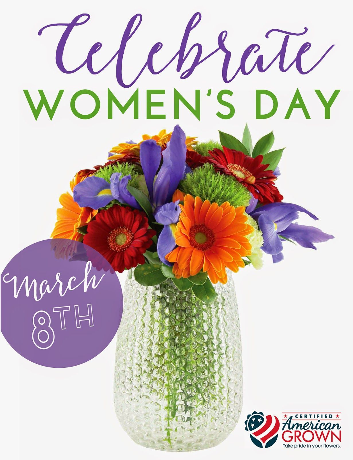 Womens day is march 8th celebrate with flowers womens day about flower farming cut flowers and floral arrangements for sun valley floral farms which specializes in growing iris lilies and tulips izmirmasajfo Choice Image