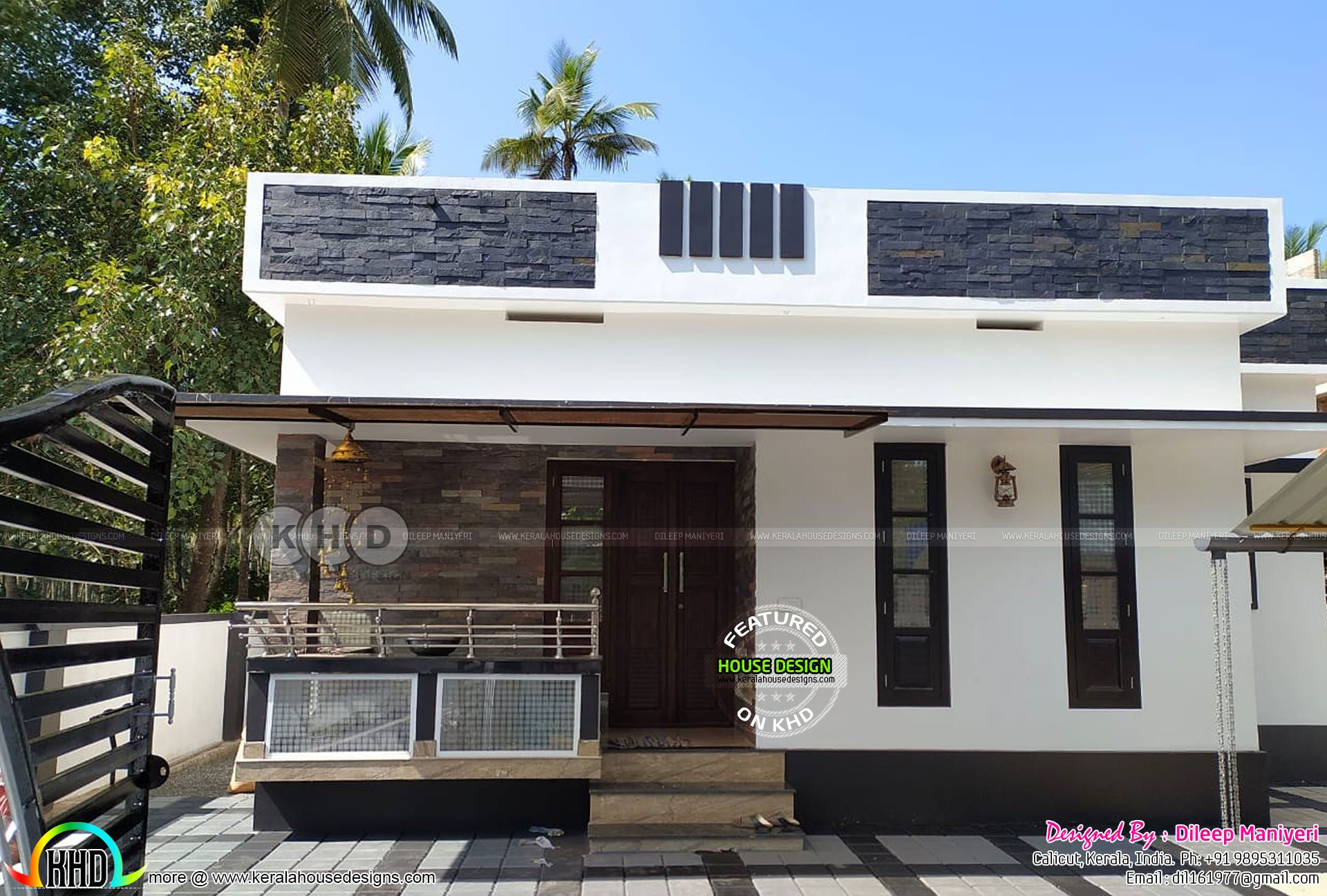 Contemporary Style Pmay House In 2020 Architect Design House Kerala House Design Free House Plans