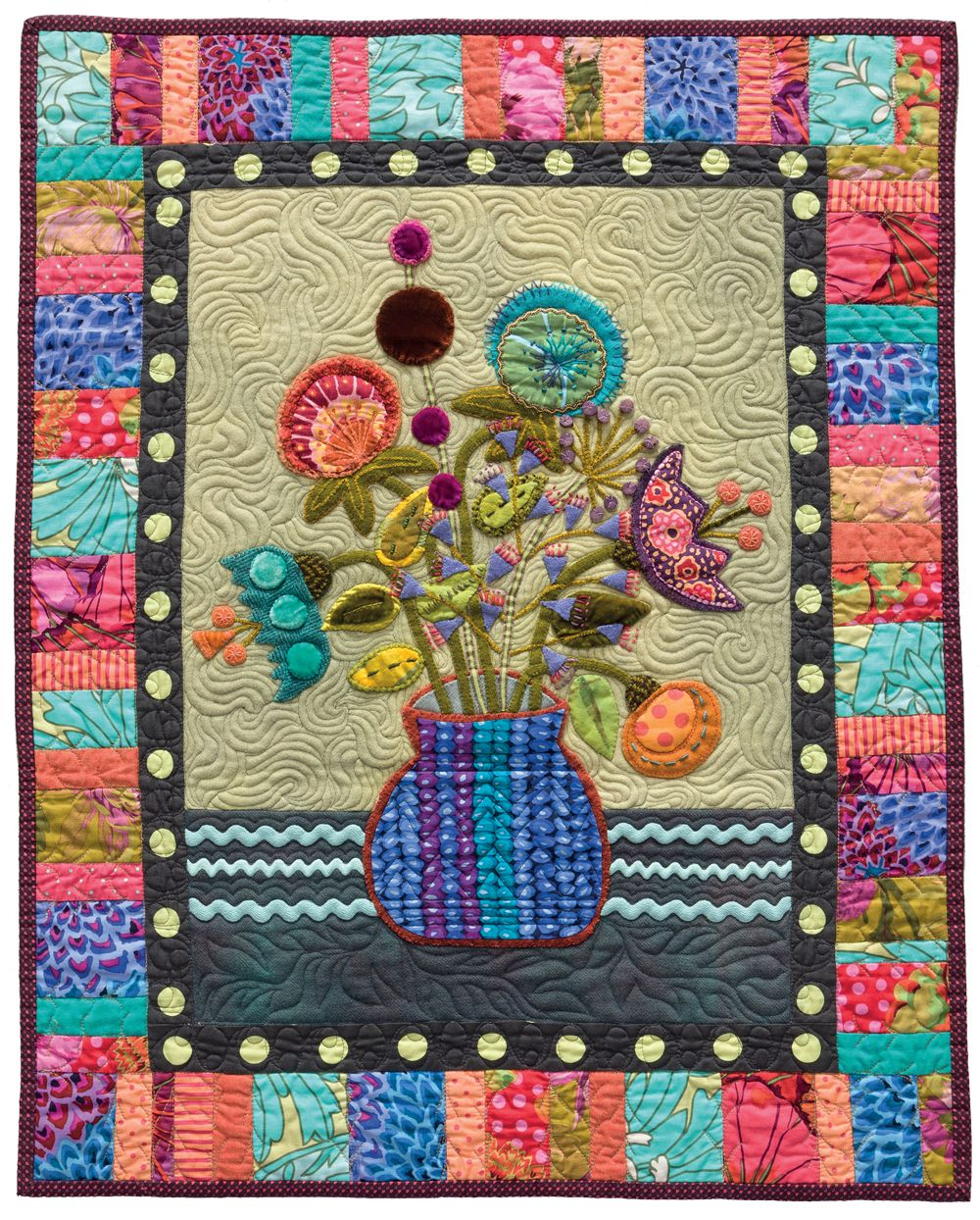 """""""There are no rules in my classes. My classes are creative."""" –Sue Spargo  See more from Stitches to Savor by Sue Spargo."""
