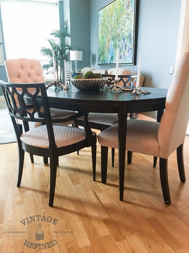 General Finishes Lamp Black Milk Paint   Dining Room Update   Painting  Dining Table U0026 Chairs