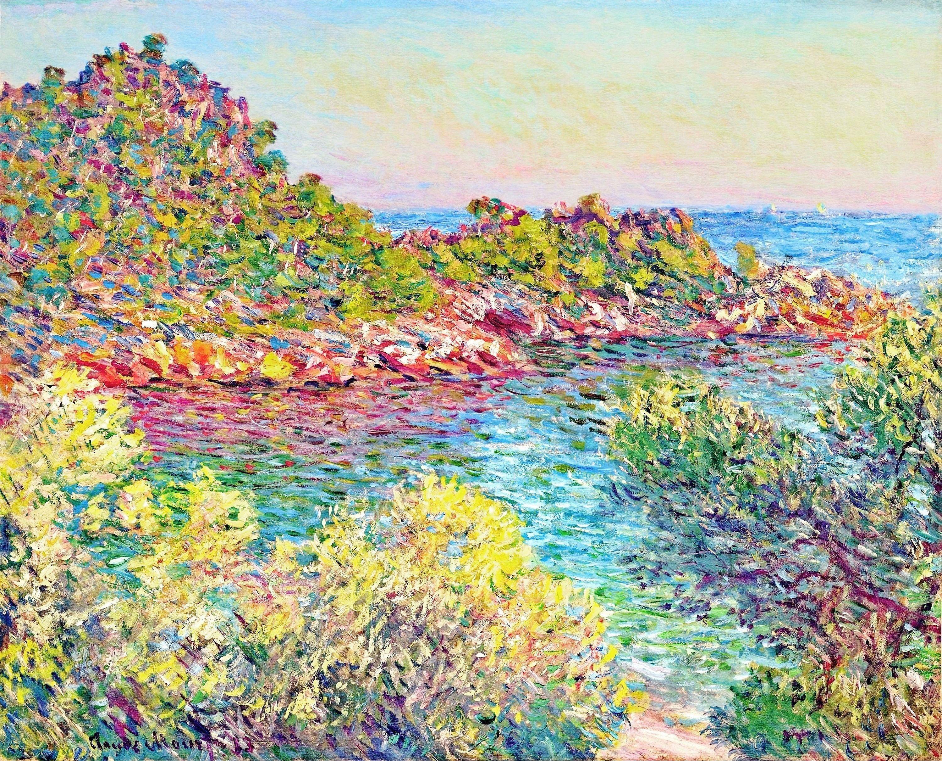 Landscape near montecarlo claude monet for Claude monet impressionist paintings