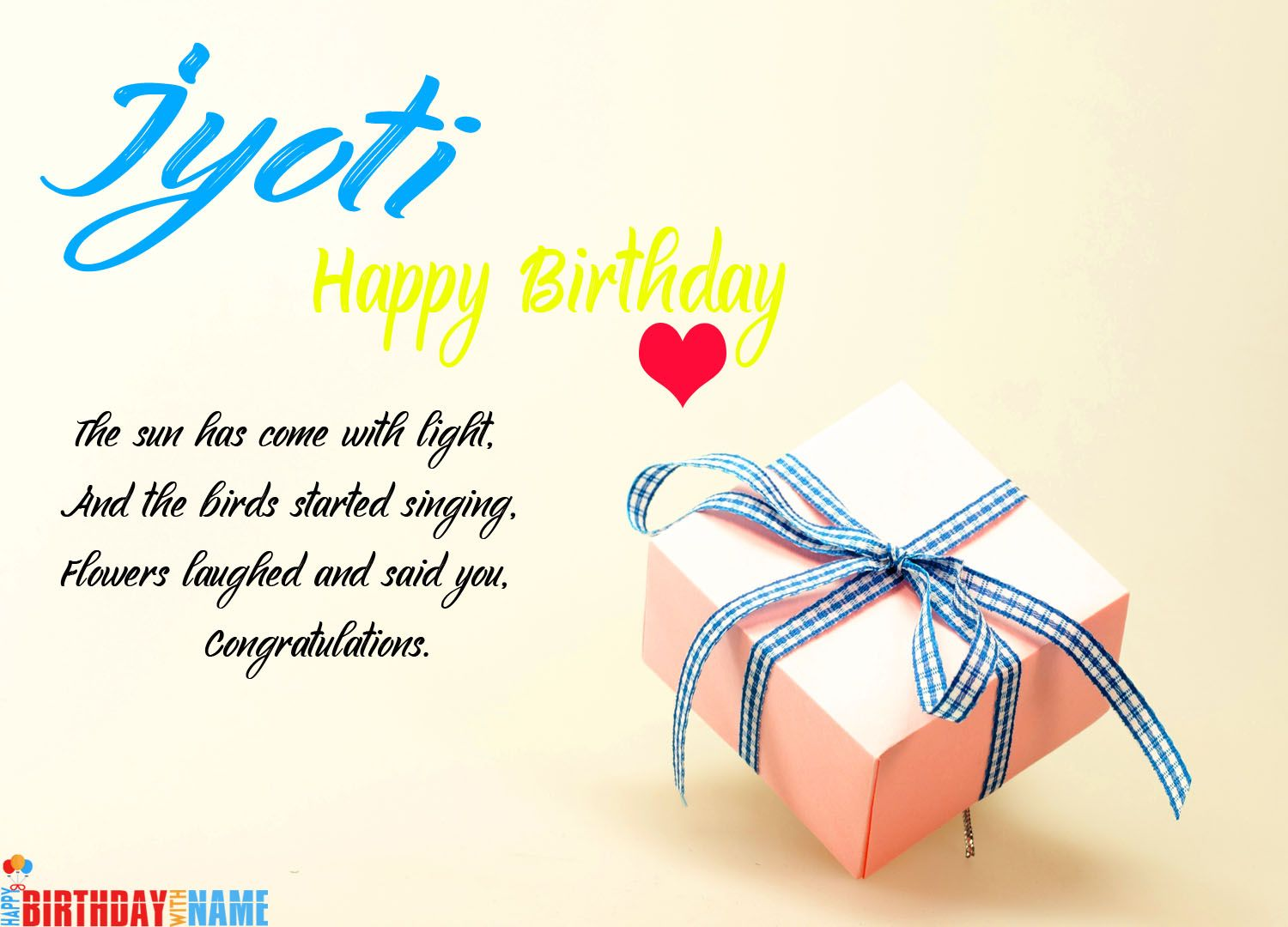 Happy Birthday Jyoti Wishes Images, Cake & Songs in 2020