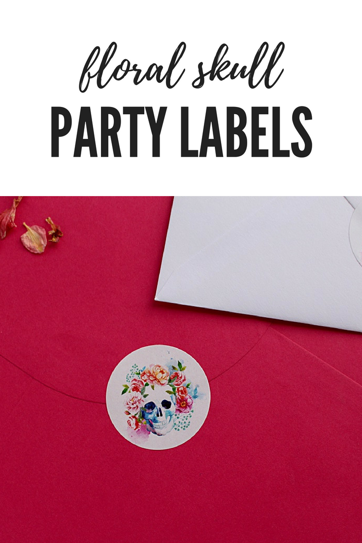 Floral skull stickers. Vibrant flowers and striking stickers. 37mm ...