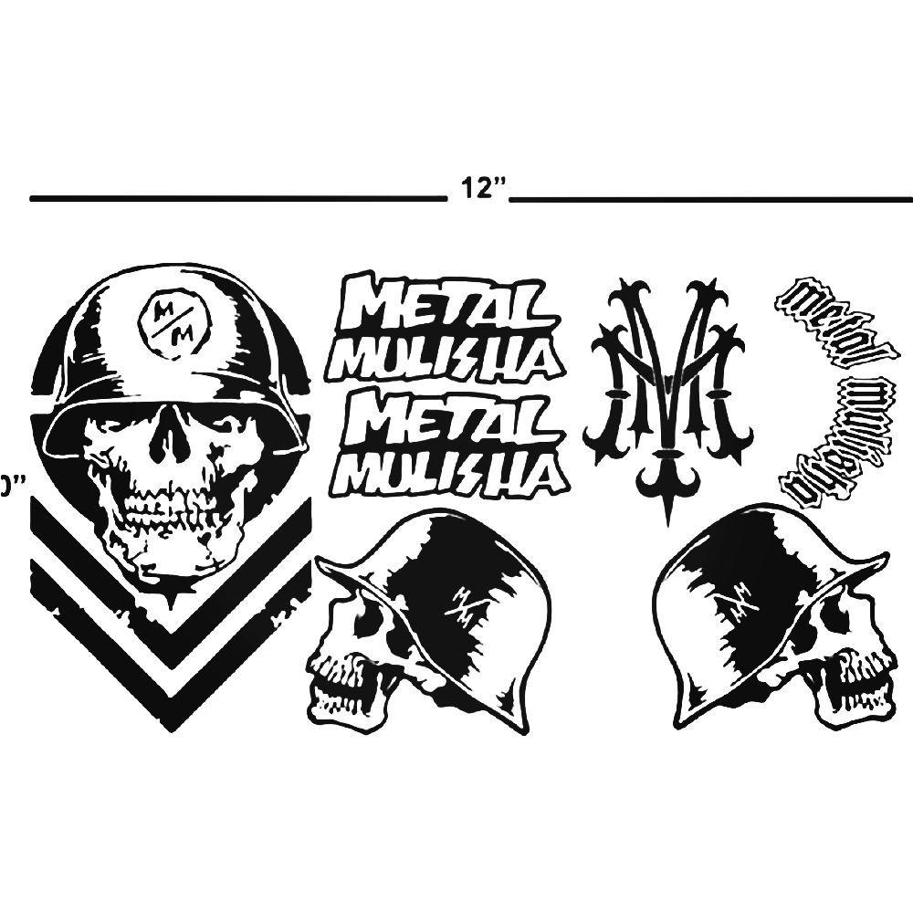 Metal Mulisha Skull Vinyl Decal Sticker | Metal mulisha and Metals