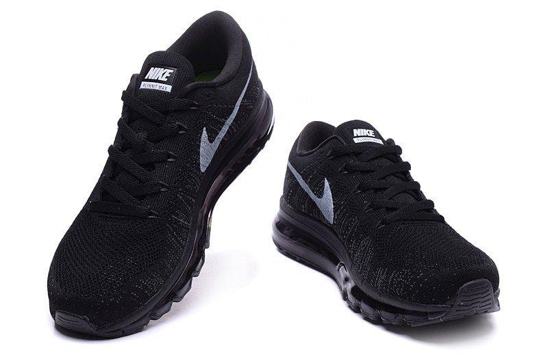 64f2cd44d5d4 Nike Air Max Flyknit Black Women Men Cheap Nike Air Max