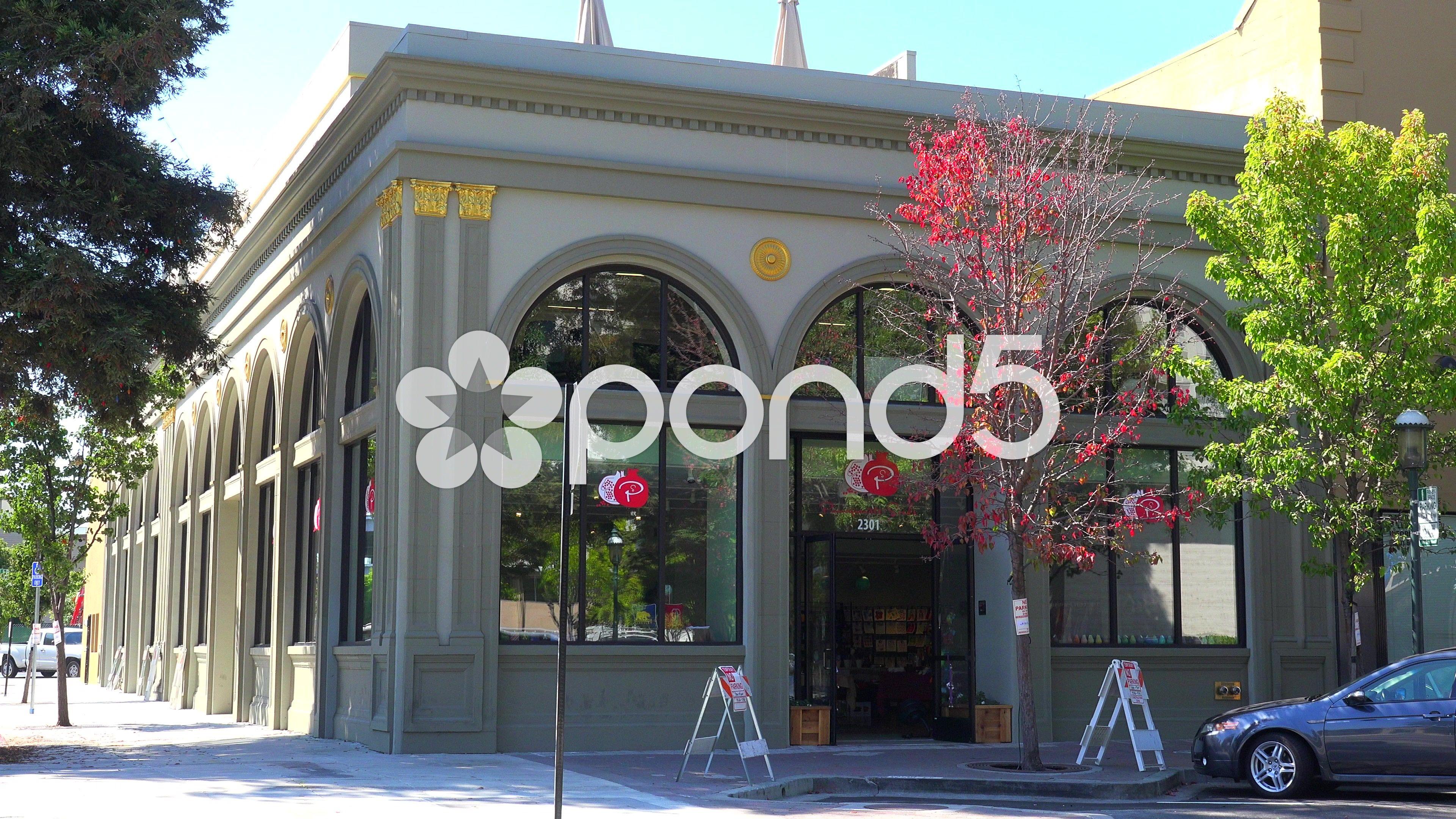 Establishing shot of a small retail business establishment