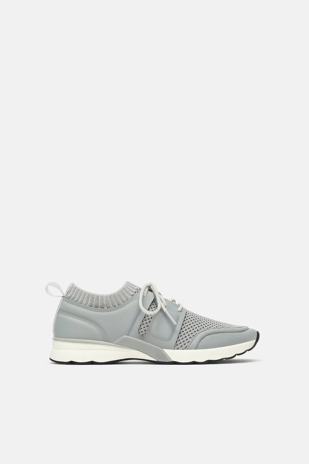 a4fd1b7afd6e Image 2 of PIECED FABRIC SNEAKERS from Zara Sporty Style