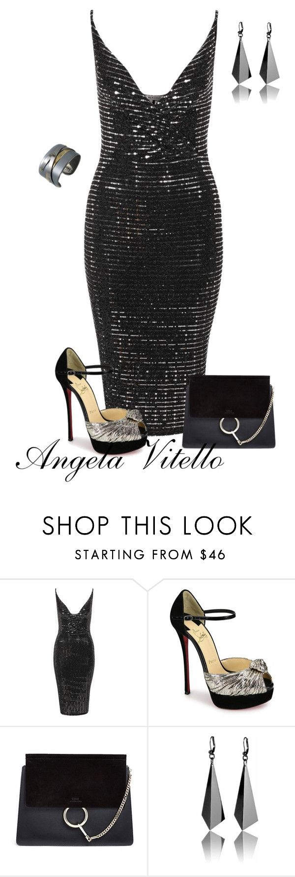 """Untitled #854"" by angela-vitello on Polyvore featuring Christian Louboutin, Chloé and Porsche"