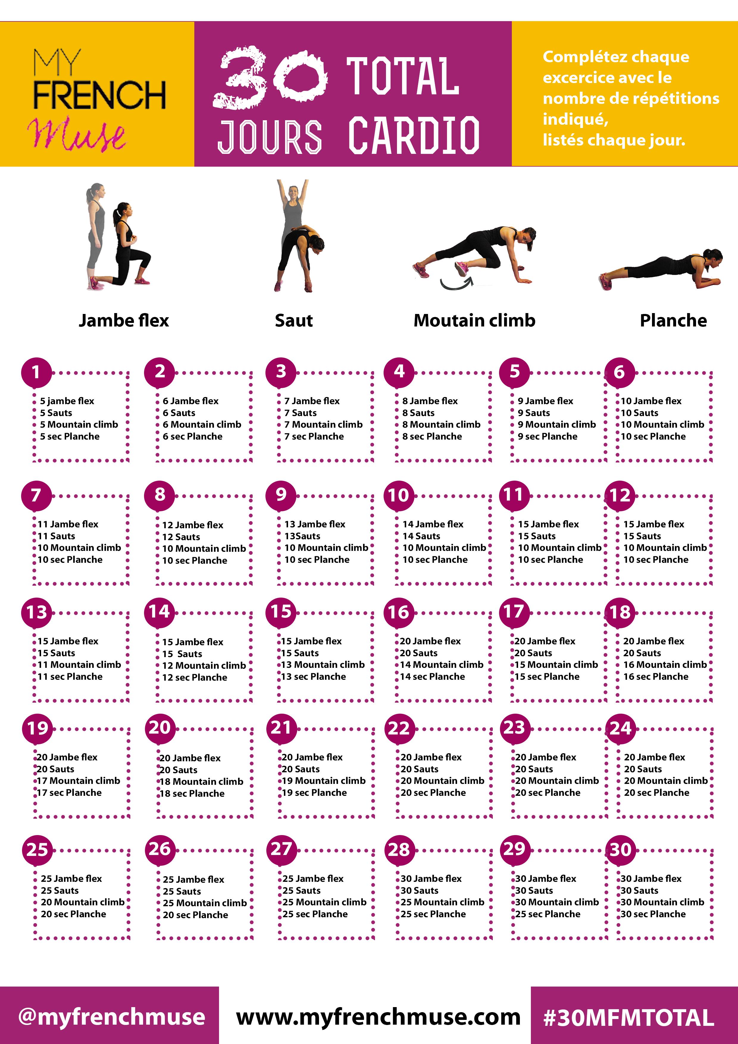 Favori La fiche d'exercice de 30 jours pour un corps tonique ! | Sport  JI19
