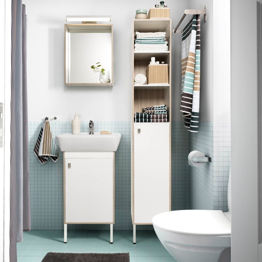 Kleine Badezimmer Storage Ideen IKEA Kleine badezimmer