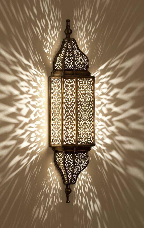Wandleuchte Marokkanisch Schmiedeeisen weiß lampe Kronleuchter Lanterne
