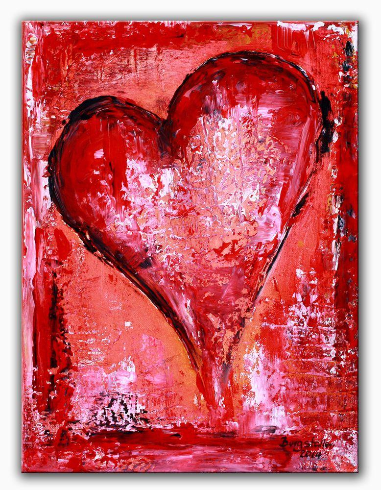 BURGSTALLER Herz bild Malerei abstrakt Liebe Partner Mutter Geschenk ...
