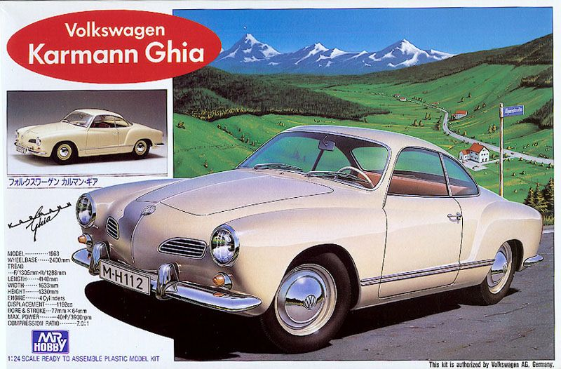 Mr Hobby Gunze Sangyo 1 24 Volkswagen Karmann Ghia Kit 188