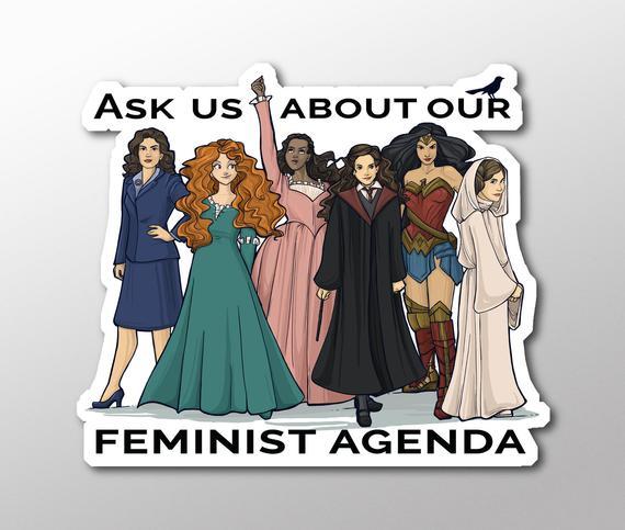 Individual Die Cut Feminist Agenda Sticker (Item 01-384)