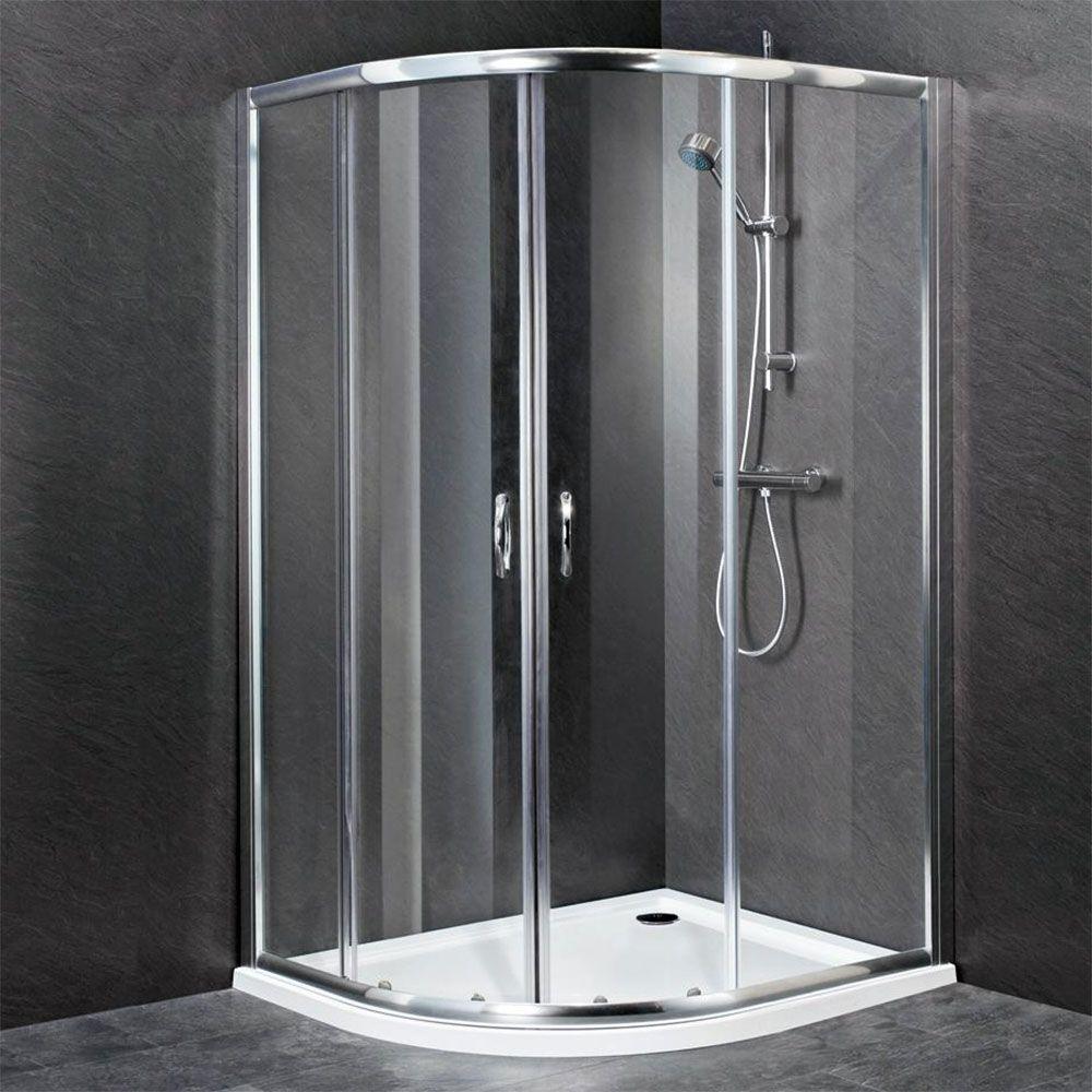 Premier Ella Offset Quadrant Shower Enclosure 1200mm x 900mm with Sh ...