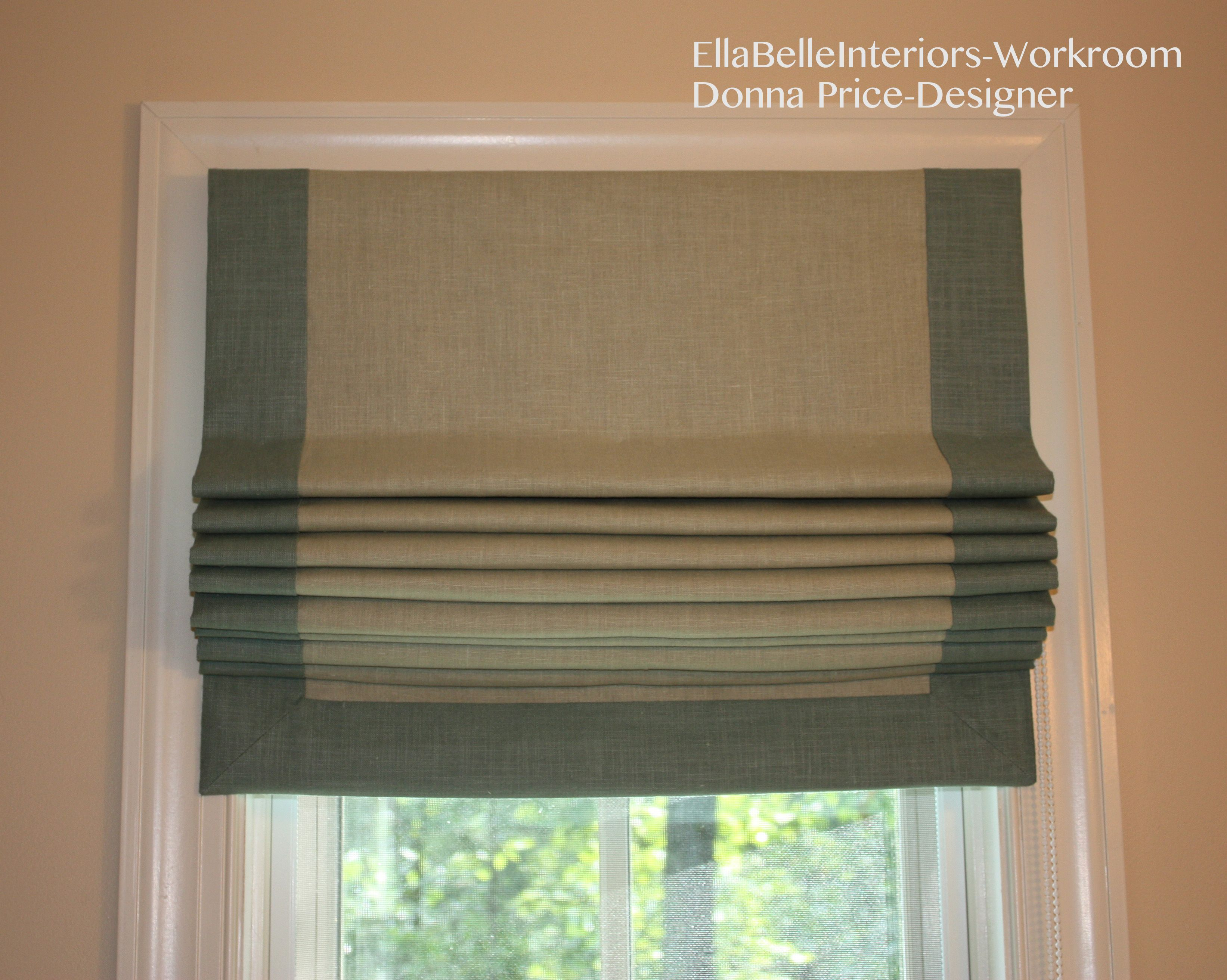 Flat Fold Roman Shade Playroom The Border In A Different