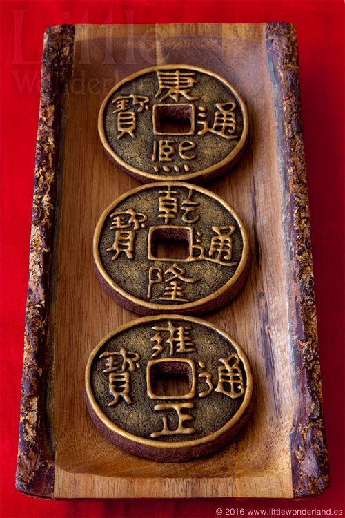 Monedas Chinas De La Suerte Lucky Chinese Coins Monedas Chinas Monedas Galletas Decoradas