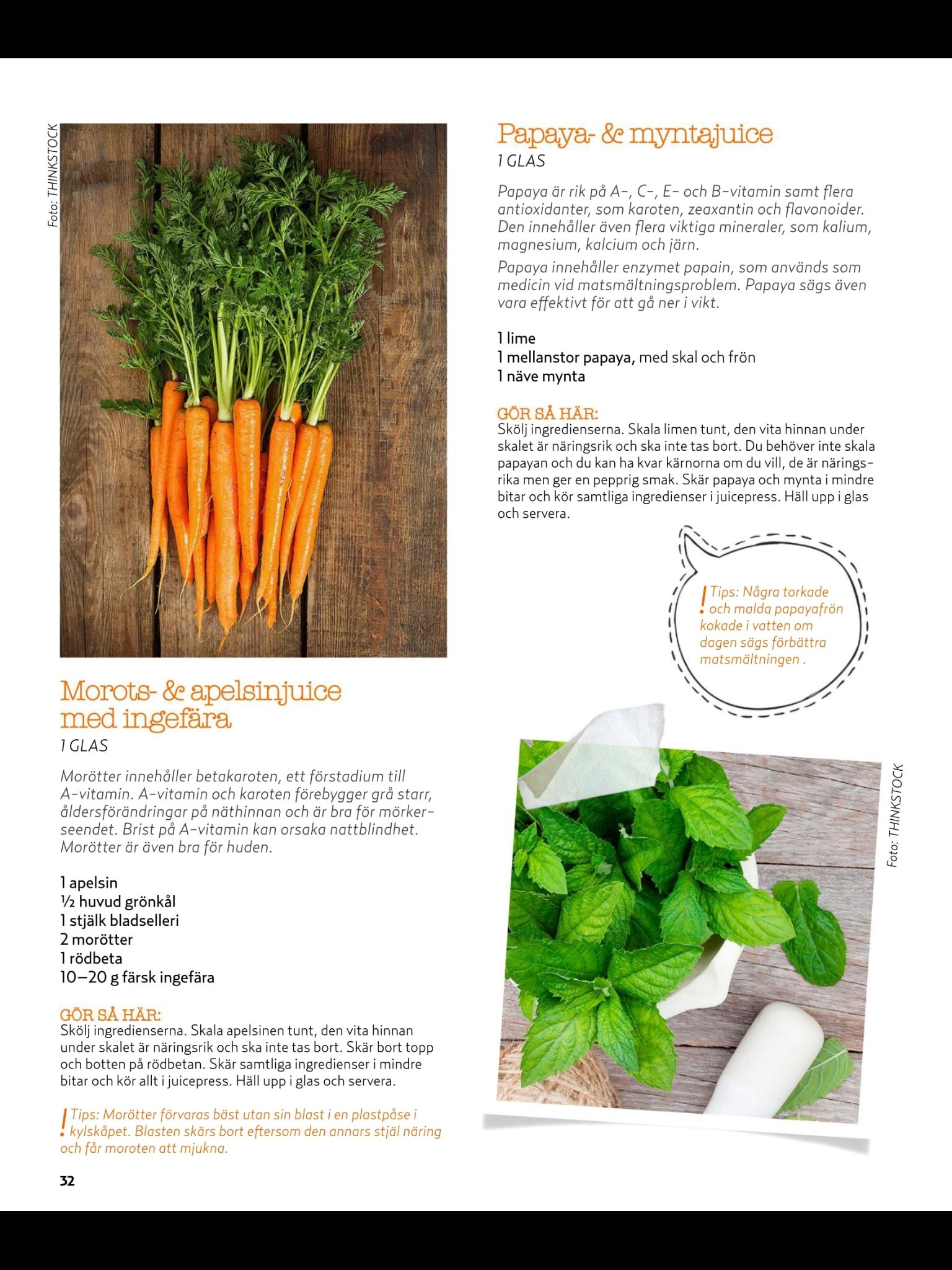 Morötter c vitamin