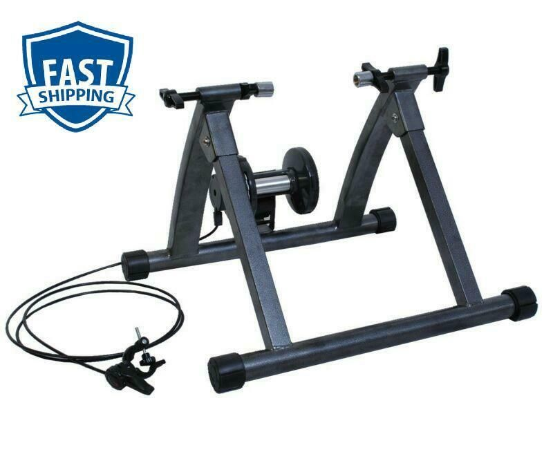 Portable Bicycle Bike Trainer Magnetic Resistance Exercise Stand Holder Black US