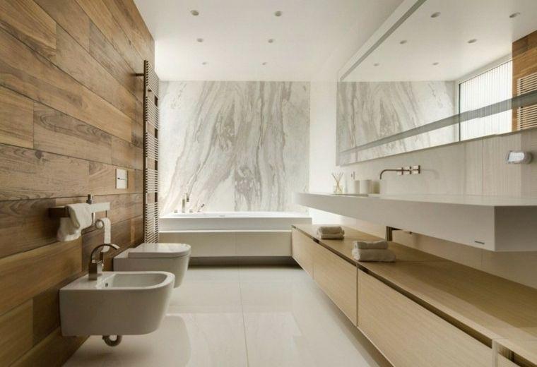 Baños minimalistas modernos 100 ideas impresionantes   Baños   Baños ...