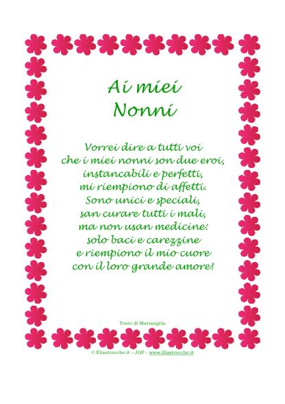 """Vuoi fare un regalo carino ai tuoi Nonni  Regala l originale """"Poesia ... ece8b62e39c8"""
