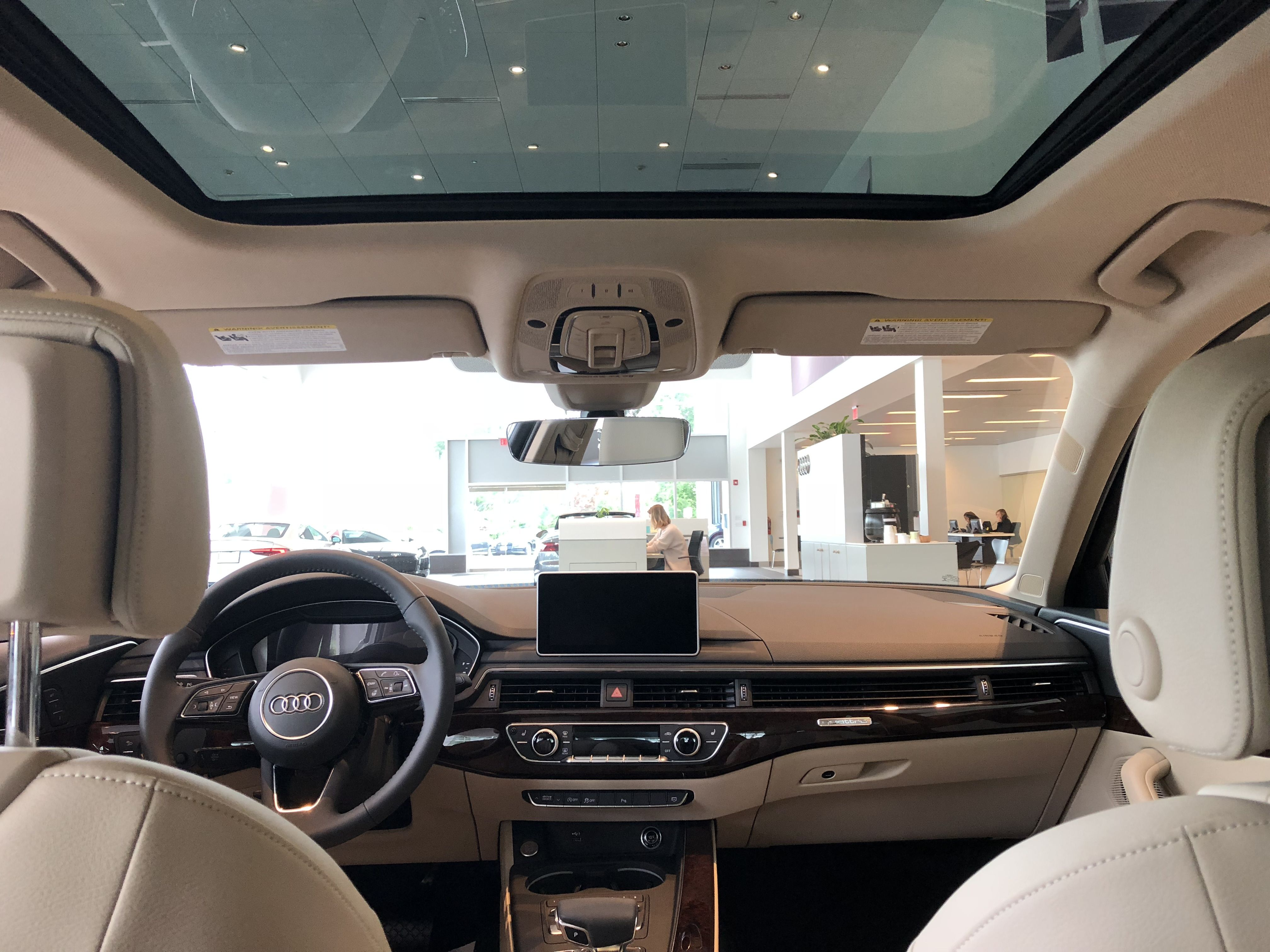 Rear Seat View With Moon Roof Of The 2018 Audi A4 With Tan Interior Located At Audi Of Bridgewater Nj Audi Interior Audi A4 Audi