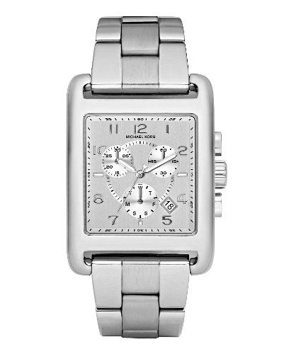 michael kors casual classic chronograph silver ladies