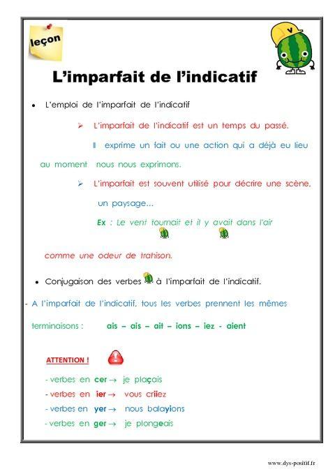 L'imparfait de l'indicatif (CM2)